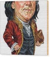 Benjamin Franklin Wood Print by Art