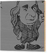 Benjamin Franklin, Caricature Wood Print