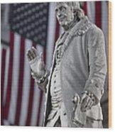 Benjamin Franklin Wood Print by Eduard Moldoveanu
