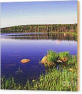 Benjies Lake Cape Breton Island Wood Print