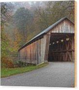 Bennett Mill Covered Bridge Wood Print