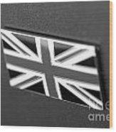 Bentley Badge In Black Wood Print