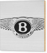 Bentley Emblem -0082c Wood Print