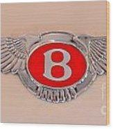 Bentley Emblem Wood Print