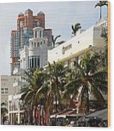 Bentley Hotel Miami Wood Print