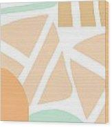 Bento 3- Abstract Shapes Art Wood Print