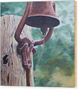 Beorne  Texas    Cowbell Wood Print