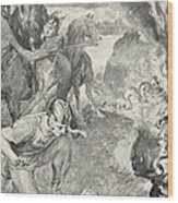 Beowulf Finds The Head Of Aschere Wood Print