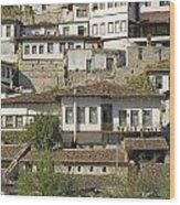 Berat Old Town In Albania Wood Print