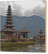 Beratan Island Temple Wood Print