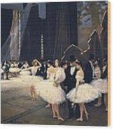 Beraud, Jean 1849-1935. Backstage Wood Print