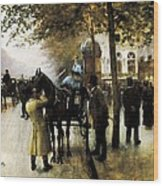 Beraud, Jean 1849-1935. The Boulevards Wood Print by Everett