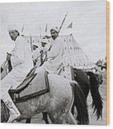 Berber Horsemen Wood Print