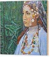 Berber Woman Wood Print