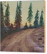 Bergebo Forest Wood Print