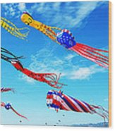 Berkeley Kite Festival 1 Wood Print