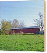 Berks County - Griesemer's Covered Bridge Wood Print