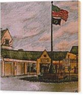 Berks County Jail Main Entrance Wood Print