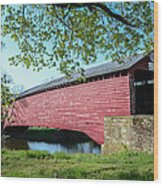 Berks Courty Pa - Griesemer's Covered Bridge Wood Print