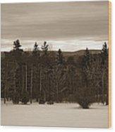 Berkshires Winter 1 - Massachusetts Wood Print