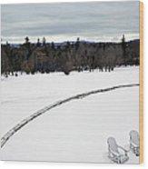 Berkshires Winter 2 - Massachusetts Wood Print