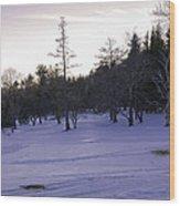 Berkshires Winter 5 - Massachusetts Wood Print