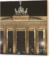 Berlin Brandenburg Gate Wood Print by Frank Tschakert