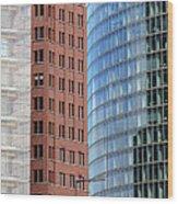 Berlin Buildings Detail Wood Print