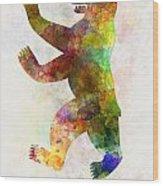 Berlin Symbol In Watercolor Wood Print