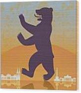 Berlin Vintage Poster Wood Print