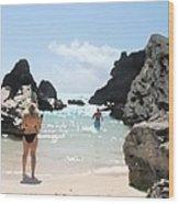 Bermuda Bikini Wood Print