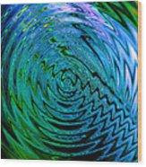 Bermuda Blue Wood Print