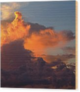 Bermuda Clouds Wood Print