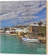 Bermuda St George Harbour Wood Print by Charline Xia