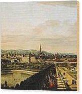 Bernardo Bellotto Wien Vom Belvedere Aus Gesehen 1758 1761 Wood Print