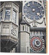 Berne Famous Clock Wood Print by Mesha Zelkovich