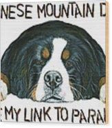 Bernese Mountain Dog Paradise Wood Print