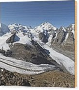Bernina Mountains, Switzerland Wood Print by Science Photo Library
