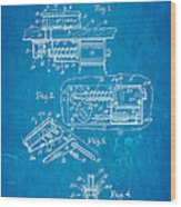 Berninger Reprojecting Ball Bumper Patent Art 1967 Blueprint Wood Print