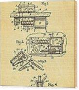 Berninger Reprojecting Ball Bumper Patent Art 1967 Wood Print