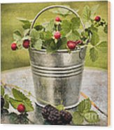 Berries Wood Print by Darren Fisher