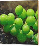 Berries On Water Wood Print