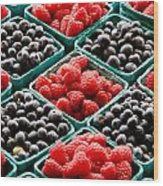 Berry Berry Nice Wood Print by Peter Tellone