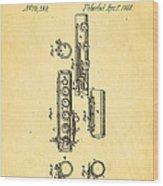 Berteling Flute Patent Art 1868 Wood Print