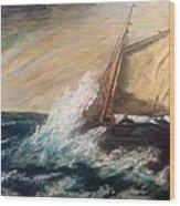Berts Boat Wood Print