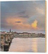 Berwick And Its Old Bridge Wood Print