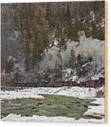 Beside The Animas River Wood Print