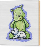 Best Buddies Come In All Sizes Wood Print by Kim Niles