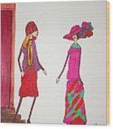 Best Friends Wood Print by Mary Kay De Jesus