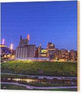 Best Minneapolis Skyline At Night Blue Hour Wood Print